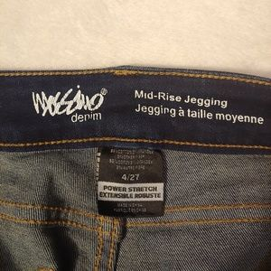 Mossimo Supply Co. Jeans - Mossimo Mid Rise Distressed and Repaired Jeggings